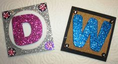 His & Her Initial Magnets ~ Made by Christi Thomas