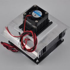 Huhushop(TM) DIY Thermoelectric Refrigeration Semiconductor Cooling System Cooler fan Kit. For product info go to:  https://all4hiking.com/products/huhushoptm-diy-thermoelectric-refrigeration-semiconductor-cooling-system-cooler-fan-kit/