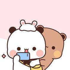 Cute Bunny Cartoon, Cartoon Panda, Cute Kawaii Animals, Cute Cartoon Pictures, Cute Profile Pictures, Cute Love Wallpapers, Panda Wallpapers, Cute Cartoon Wallpapers, Cute Couple Comics