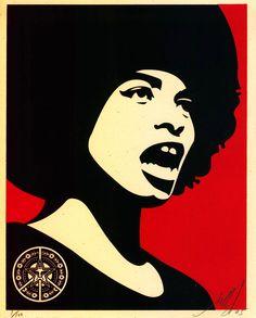 Shepard Fairey activism poster.