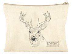 """Everyday Minerals """"Dear Deer Heart"""" Travel Bag"""