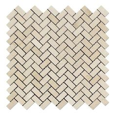 Crema Marfil Marble Polished Mini Herringbone Mosaic Tile - American Tile Depot - Commercial and Residential (Interior & Exterior), Indoor, Outdoor, Shower, Backsplash, Bathroom, Kitchen, Deck & Patio, Decorative, Floor, Wall, Ceiling, Powder Room - 1