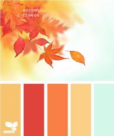 Autumn colors...love warm colors!