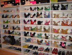 I need this shoe closet!