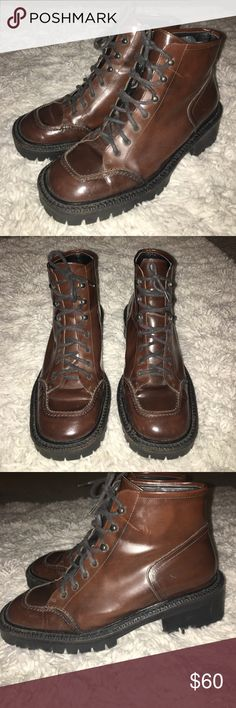 🔴 Gamma Brown Leather Boots 🔴 Gamma Brown Leather Short Ankle Boots Made in Italy gamma Shoes