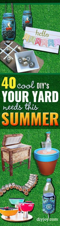 DIY Ideas to Get Your Backyard Ready for Summer - Cool Ideas for the Yard This Summer. Furniture, Games and Fun Outdoor Decor both Adults and Kids Will Enjoy