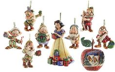 Dwarf 'Ornament Set' JimShore Disney 4008072 seven Disney figure Jim Showa Snow White