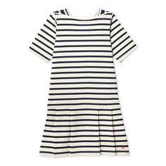 #girls #breton #dress #striped