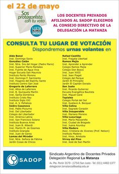 Elecciones 2013 - Consultá tu lugar de votación