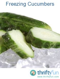 Freezing cucumbers