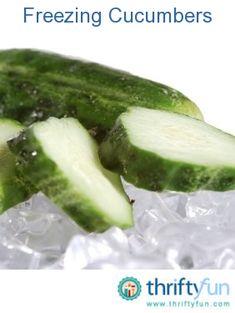 Freezing cucumbers