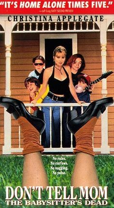 """DON'T TELL MOM THE BABYSITTER'S DEAD"" (1991) CHRISTINA APPLEGATE, KEITH COOGAN"