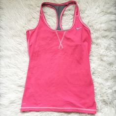 Pink Nike Dri Fit Tank Bubblegum pink workout tank with a built in bra. Nike Tops Tank Tops
