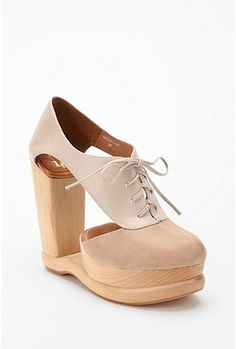 UrbanOutfitters.com > Jeffrey Campbell Cutout Oxford Wedge - StyleSays
