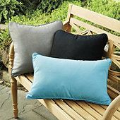Outdoor Piped Throw Pillow 12 inch x 20 inch