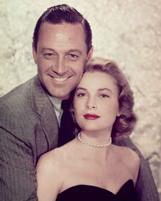1954: William Holden and Grace Kelly in the film 'The Bridges at Toko-Ri'.