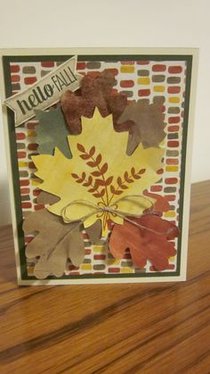 Stampin Up! For all Things Stamp Set and Color Me Autumn DSP.