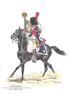 soldatini uniformi e storia militare: Lucien Rousselot - Carabiniers 1805-1810
