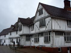 Guildhall at Lavenham - Half Timbered, Past, Rain, Suffolk