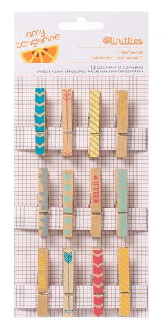 Amy Tangerine YES PLEASE Clothespins