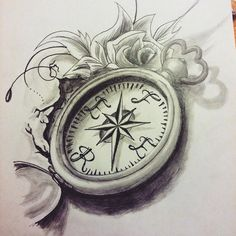 39 Best Compass Rose Tattoo Drawings Images Compass Rose Tattoo
