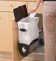 cabinet trash bag holder