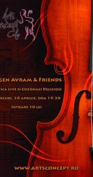 Poster Design pentru concertul lui Eugen Avram & Friends in Arts Concept Cafe.
