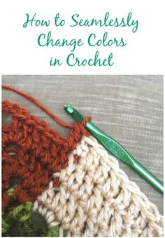 Great tutorial on how to seamlessly change colors in crochet from Petals to Picots blog