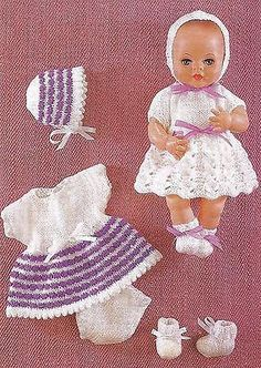 Free Knitting Pattern Learn to Knit Baby Booties Knitted Doll Patterns, Knitted Dolls, Baby Knitting Patterns, Baby Patterns, Free Knitting, Knitting Wool, Vintage Knitting, Double Knitting, Knitting Dolls Clothes