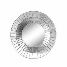 """Round mirror with a mosaic-inspired frame.  Product: Wall mirrorConstruction Material: Mirrored glassColor: SilverDimensions: 35.75"""" Diameter"""