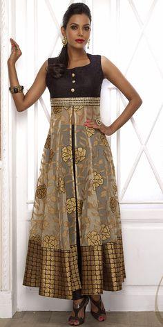 USD 157.41 Beige Net Designer Salwar Kameez 43771