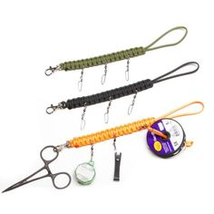 fly fishing lanyard. Lanyards are approximately 12 inches in total length, including loop