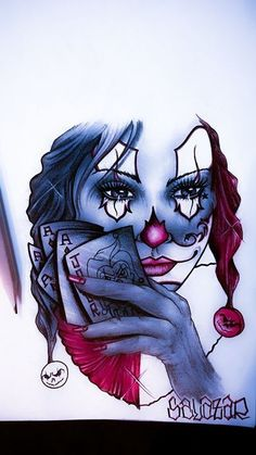 """2C The Completed Version- Check Out My  """"LOWRIDER ARTE"""" PIN-PAGE......Female Jester I Banged Out. Lowrider Arte. Chicano Art. Lowrider Clowns. Jokers. Clowns."""