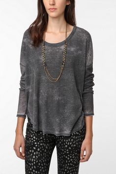 mouchette Long sleeved Thermal shirttail top
