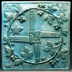 Bridgid's Cross - Her symbols: Harp - She is the Goddess of poetry and music. Cauldron - She is a fire Goddess. Triskellion - She is a Celtic Triple Goddess. Brigid's Knot - A Celtic knot made in her honor.