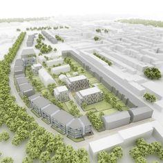 Städtebauliches Gutachterverfahren Essen – Rüttenscheid Herthastraße / Ursulastraße / Gummertstraße  1. Preis sop Architekten