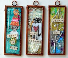 tutorial for easy mixed media pendants