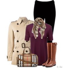 A fashion look from October 2015 featuring Doublju tops, Burberry coats and Warehouse leggings. Browse and shop related looks.