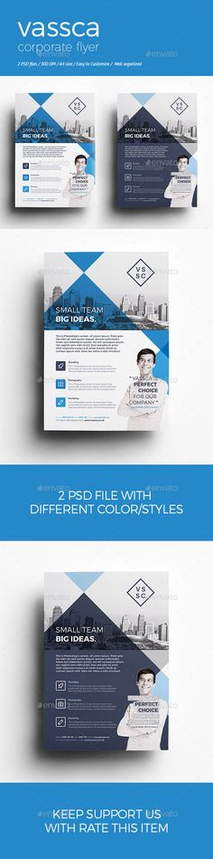 Corporate Flyer Template #design Download: http://graphicriver.net/item/vassca-corporate-flyer/12605181?ref=ksioks