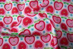 J.Swafing Nora Baumwoll Popeline Äpfel Blumen Polka Dots Deko Patchwork Stoff