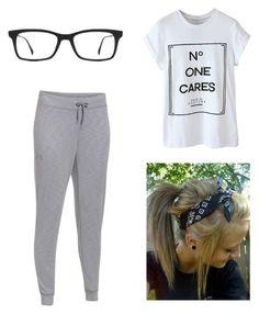 """""""Untitled #1"""" by cyberlayouts ❤ liked on Polyvore featuring Under Armour, Ray-Ban, women's clothing, women's fashion, women, female, woman, misses and juniors"""
