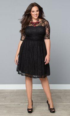Plus Size Women Lace Skater Dress Black Plus Size Lace Dress, Wedding Dresses Plus Size, Dresses Online, Dresses For Sale, Dress Sale, Curvy Fashion, Plus Size Fashion, Petite Fashion, Trendy Fashion