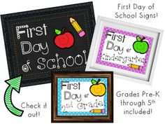Print, add to a frame, & give to your child to hold for a snapshot prop on their first day of each grade!! Grades Pre-K through included :)Enjoy!