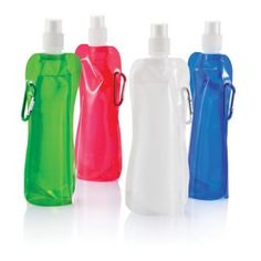 These foldable water bottles are incredibly handy to take out and about; rather than a more rigid casing, the foldable bottle will flatten out as the water is drunk. It makes it easy to roll up and pop in your bag between filling up.