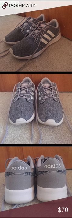 Adidas Tennis Shoes STYLISH & COMFORTABLE. These shoes have only been worn a couple times (see pic of bottoms). They look brand new on your feet! There is a comfortable sock lining in the shoe. Adidas Shoes Athletic Shoes