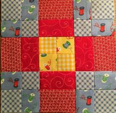 Block 95 designed by Kim Neidzwiecki: Sunshine, by Diane Char, lovely colour combination