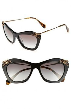 Cat eye neri di Miu Miu