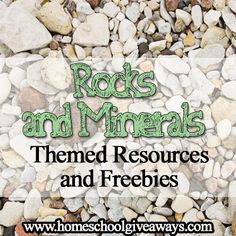 Head over to Homeschool Giveaways to find a collection of free rocks and minerals themed resources. There are over 20 free resources to help cover Earth And Space Science, Science For Kids, Science Resources, Science Activities, Science Worksheets, Science Ideas, Science Projects, Science Classroom, Teaching Science
