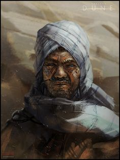 Dune Fremen Sietch Leader by Mark Molnar : ImaginaryArrakis Character Concept, Character Art, Concept Art, Character Design, Dune Characters, Fantasy Characters, Matte Painting, Dune Series, Dune Frank Herbert
