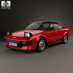 Toyota MR2 1984 3d model from Humster3D.com.